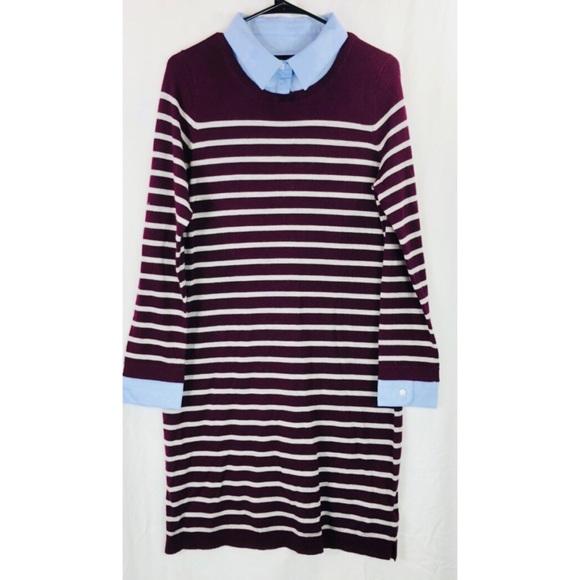 24e001620fc Cynthia Rowley Dresses   Skirts - Cynthia Rowley wool striped collar dress  6008